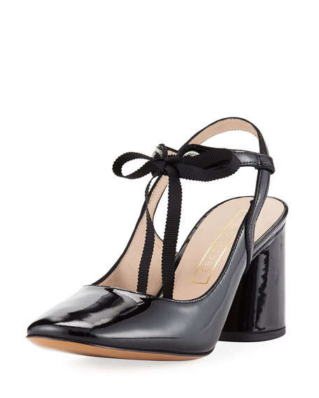 Marc Jacobs Bobbi Patent Tie Pump, Black