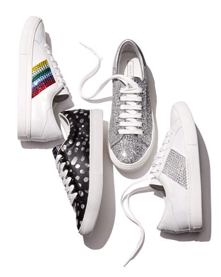 Empire Dotted Low-Top Sneaker, Dark Silver/Multi