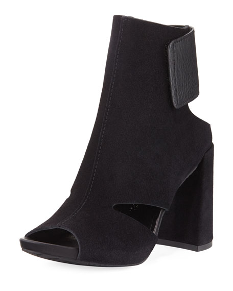 Pedro Garcia Yeca Cutout Chunky-Heel Sandal