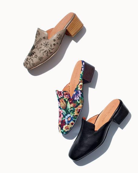 Eida Leather Block-Heel Mule