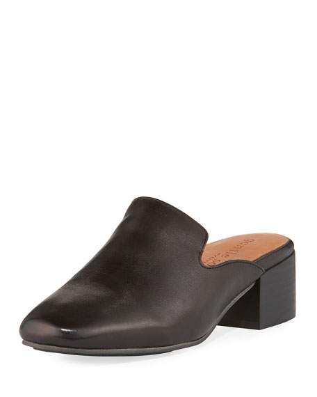 Eida Leather Block-Heel Mule