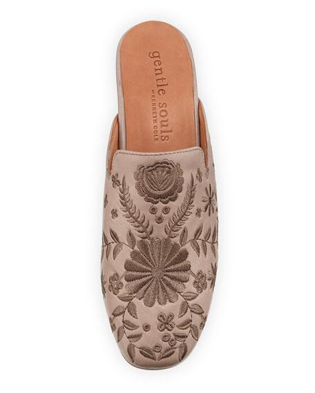 Eida 2 Embroidered Leather Mule