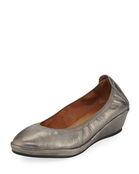 Gentle Souls Natalie Stretch-Demi Wedge Ballerina Shoe