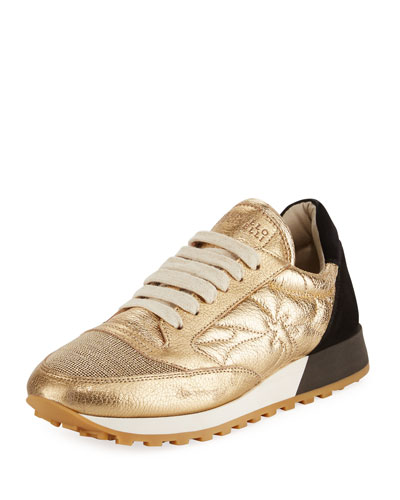 Colorblock Metallic Platform Trainer