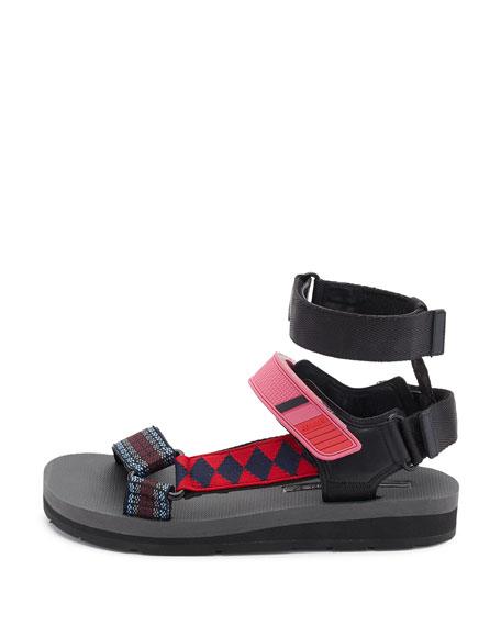 Printed Grip-Strap Sandal, Multi Pattern