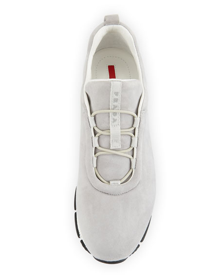 Suede Stretch-Vamp 35mm Sneaker