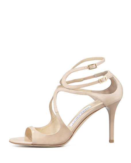 Ivette Strappy Patent Sandal, Nude