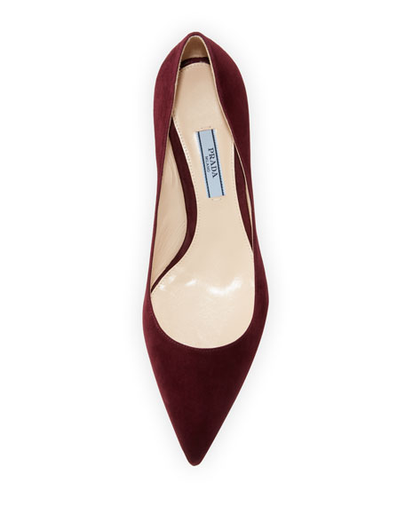 Suede Pointed-Toe 45mm Pump