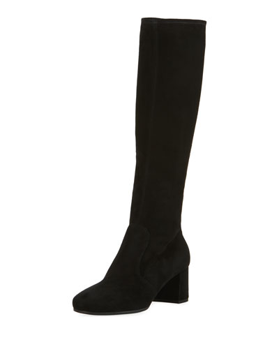 Stretch-Suede 55mm Knee Boot