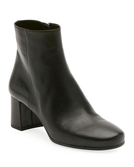 Prada Napa 55mm Block-Heel Boot, Black