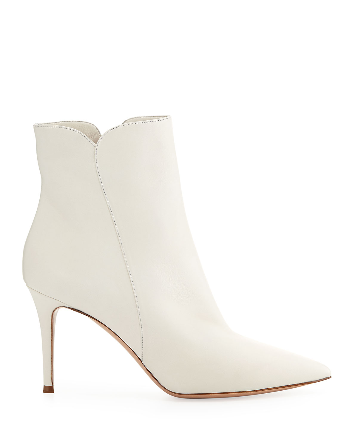 Gianvito Rossi 85MM LEVY LEATHER ANKLE BOOTS 1KqEqYgAz