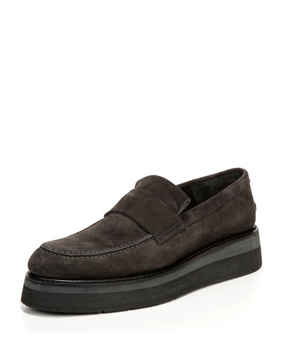 Dorsey Creeper Platform Loafer, Tarmac