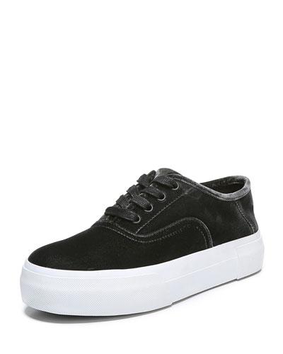 Copley Velvet Platform Sneaker, Graphite