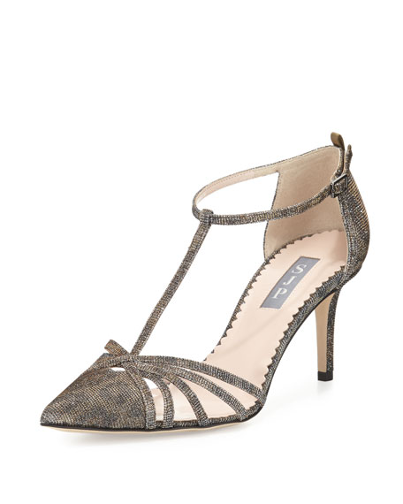 SJP by Sarah Jessica Parker Carrie Shimmery T-Strap