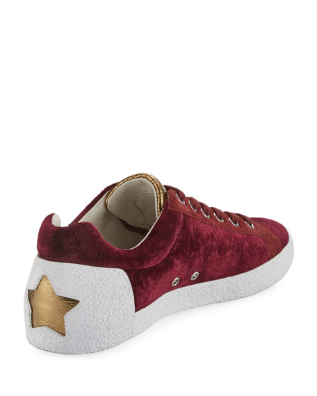 Nak Arms Embroidered Sneaker, Barolo