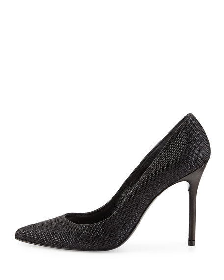 Nouveau Metallic Pointy-Toe Pump