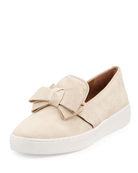 Val Bow Skate Sneaker, Cream
