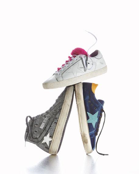 May Velvet Star Low-Top Sneakers