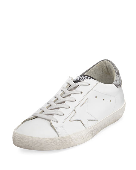 Golden Goose Glittered Leather Low-Top Sneaker