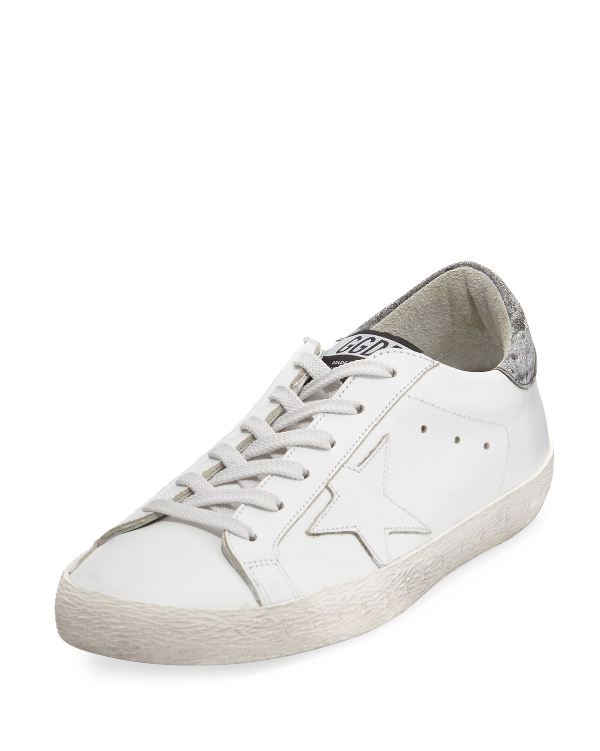 Golden Goose Glittered Leather Low-Top Low-Top Leather Sneakers d99c34