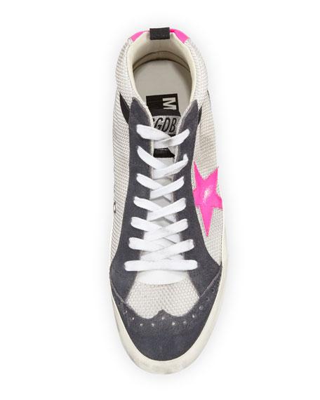Brogue Mesh Mid-Top Sneaker