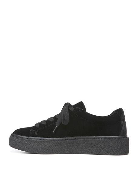 Neela Velvet Lace-Up Sneaker