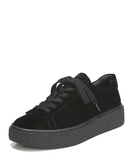 Neela Velvet Lace-Up Sneakers