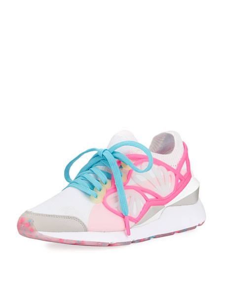 Lace-Up Cage Fade Sneakers, White