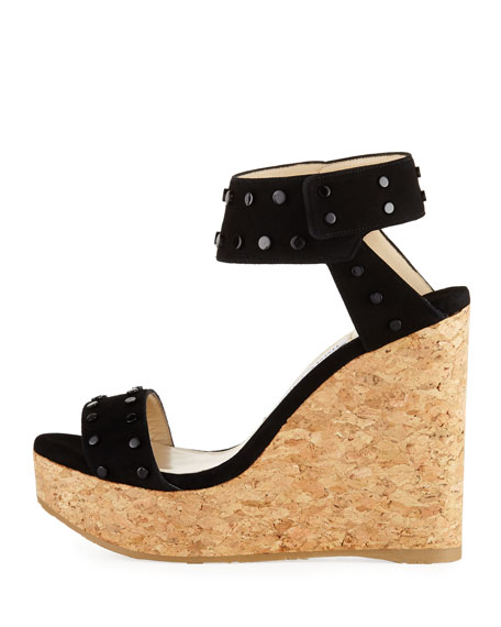 Nelly Cork Platform Wedge Sandal