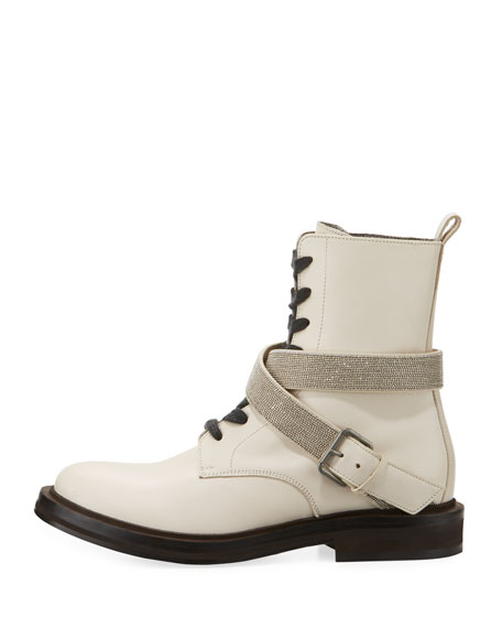 Leather Hiking Boot with Monili Harness Strap