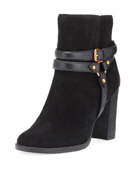 Dandridge Belted Chunky Boot, Black