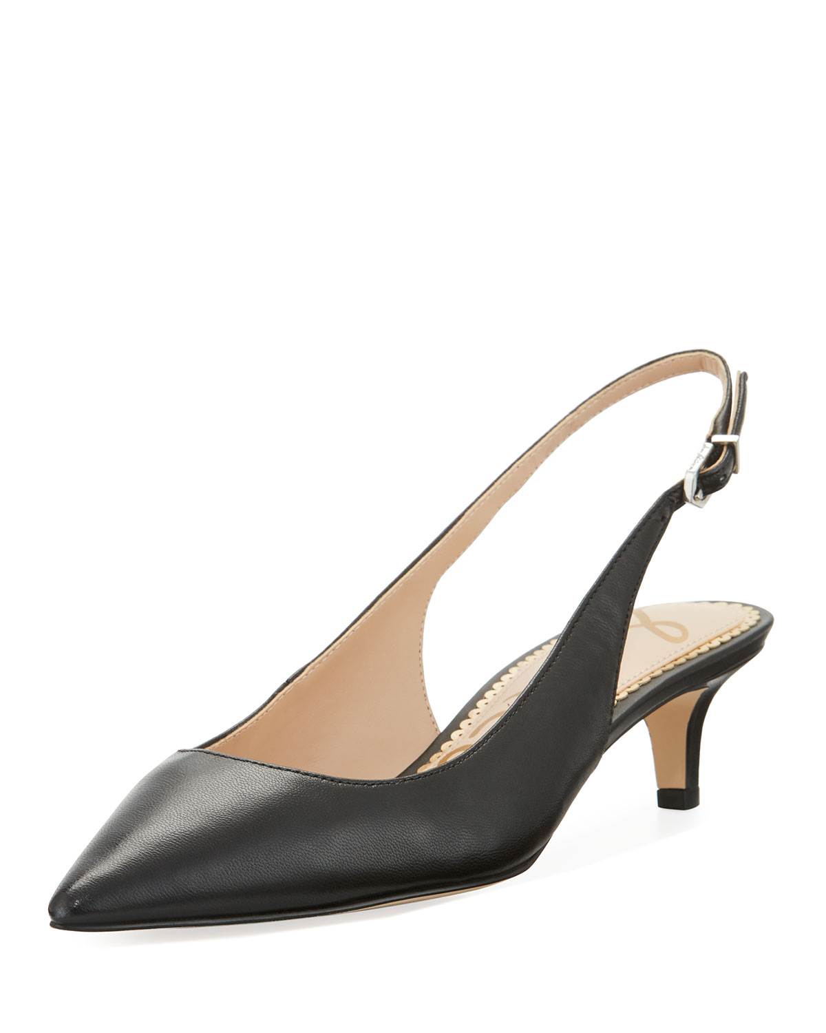 bb79b563279 Quick Look. Sam Edelman · Ludlow Leather Kitten-Heel Slingback Pumps
