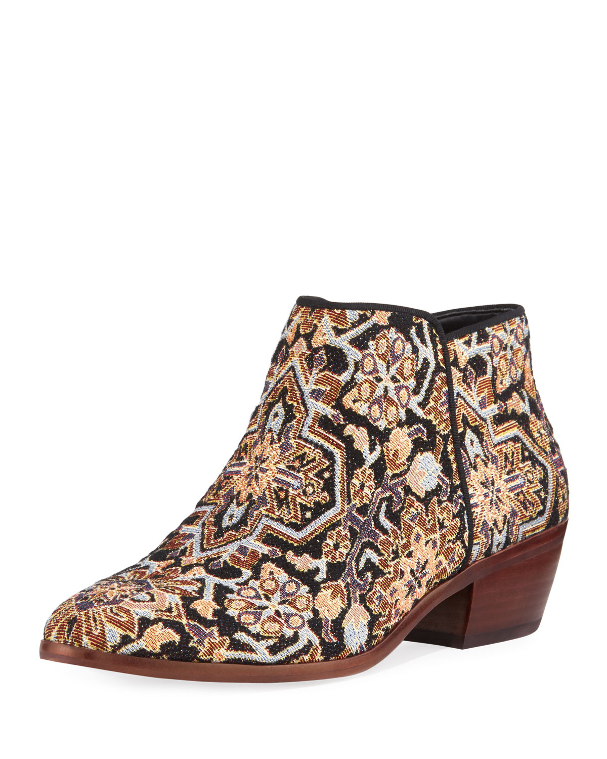 6dbc298223ae4 Sam Edelman Petty Low Tapestry Ankle Bootie