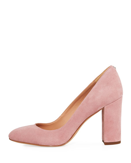 Stillson Round-Toe Suede Pump