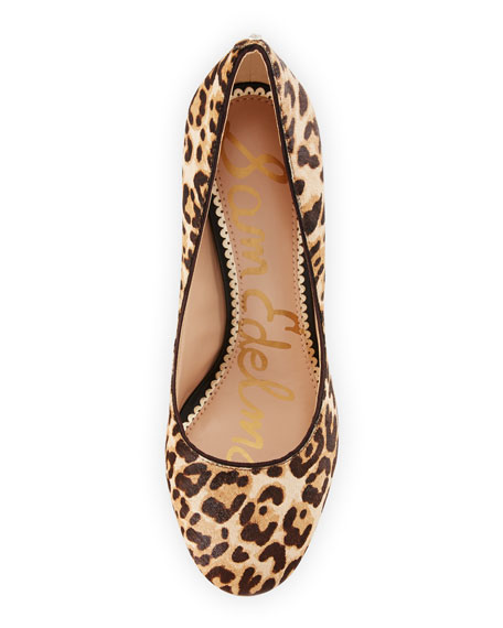 Stillson Leopard-Print Calf Half Pump