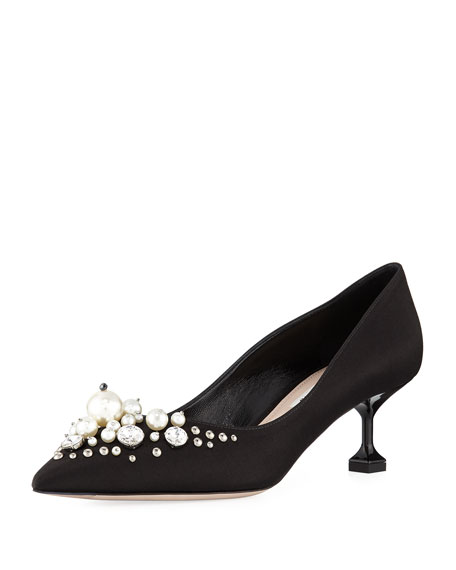 Miu Miu Satin Pearlescent 55mm Pump