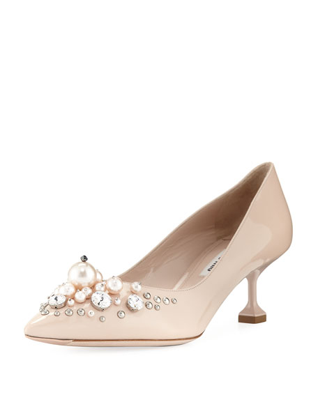 Miu Miu Patent Pearlescent 55mm Pump