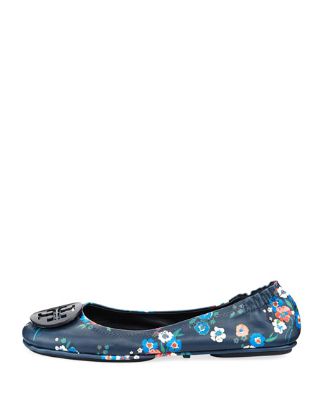 Minnie Floral Travel Logo Ballet Flat