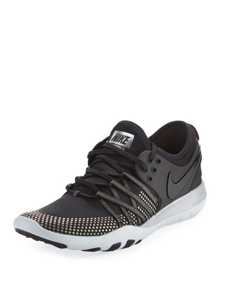 Nike Free Metallic Lace-Up Trainer Sneaker