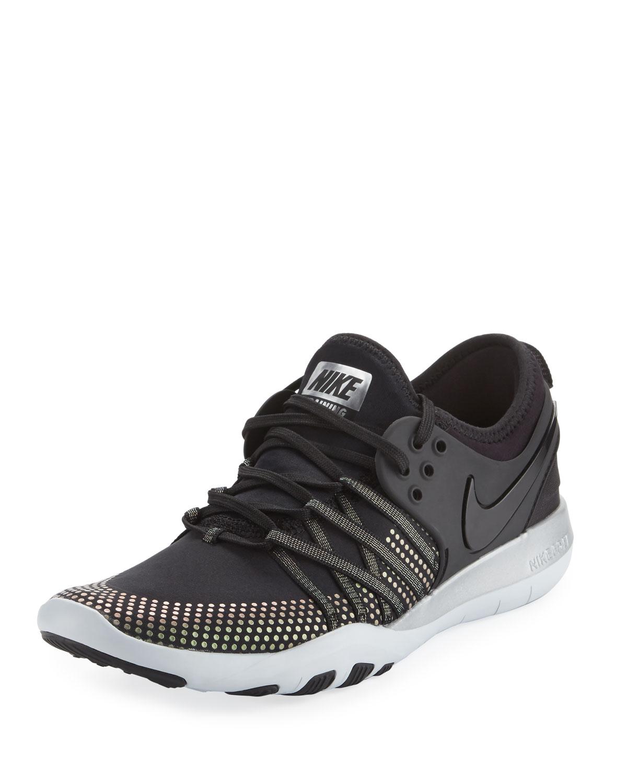 1897d4fbbb3de Nike Free Metallic Lace-Up Trainer Sneakers