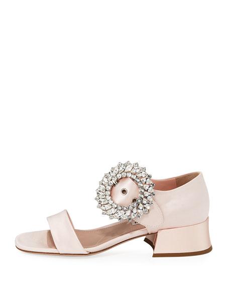 Satin Crystal-Embellished 35mm Sandal