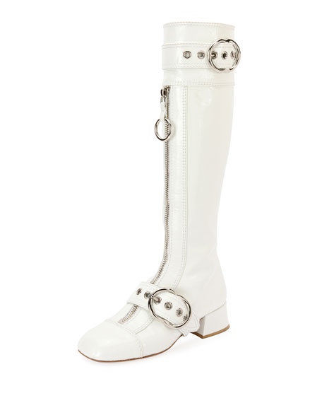 Patent Leather Knee-High Boot