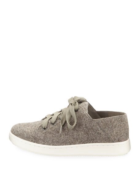 Clifton Felt Wool Lace-Up Low-Top Sneaker