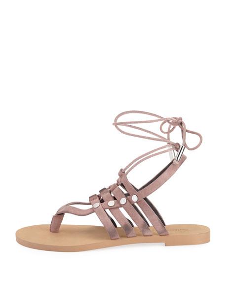 Evonne Suede Strappy Flat Sandal