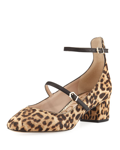 Sam Edelman Lulie Strappy Block Fur Pump, Sand