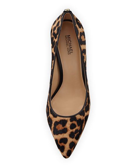 Abbi Flex Hair Calf Printed Pump, Cheetah