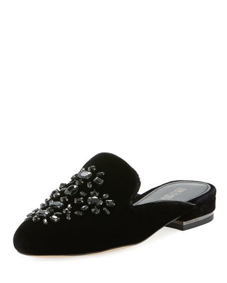 MICHAEL Michael Kors Edie Velvet Flat Loafer Mule