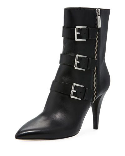 Lori Leather Buckle Bootie