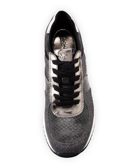 Allie Flannel & Metallic Trainer Sneaker