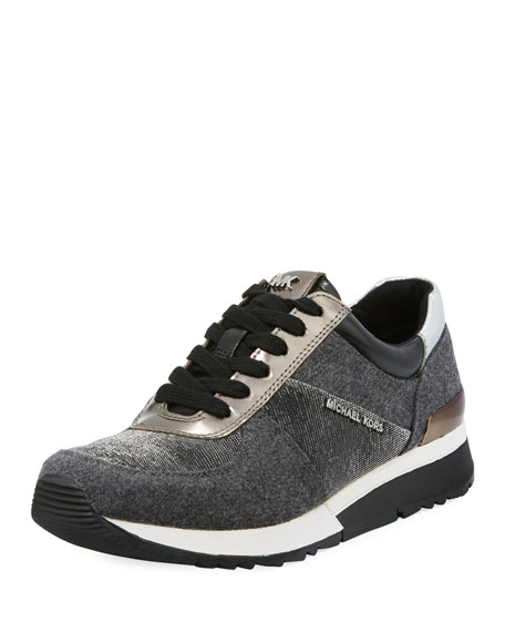MICHAEL Michael Kors Allie Flannel & Metallic Trainer